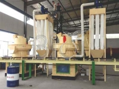 6tons/h Wood pellet Production line installed